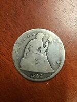 1844 SEATED LIBERTY DOLLAR  ORIGINAL GOOD CONDITION  TYPE COIN