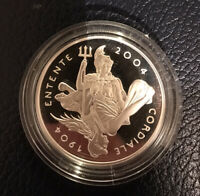 2004 CENTENARY OF ENTENDE CORDIALE SILVER PROOF 5.
