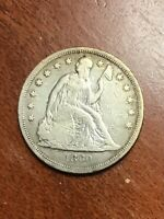 1860 O SEATED DOLLAR VF CLEANED  TYPE COIN
