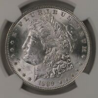 1889 MORGAN $1 TOP-100 $1 VAM-19A BAR WING NGC CERTIFIED MINT STATE 63 SILVER DOLLAR
