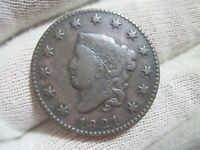 1821 CORONET LARGE CENT    WITH  FINE DETAILS