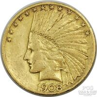 1908 S INDIAN $10 GOLD US COIN 22075