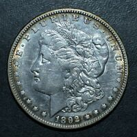 1892-O $1 MORGAN SILVER DOLLAR  AU ALMOST UNC DETAILS   NOW TRUSTED