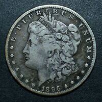 1896-S $1 MORGAN SILVER DOLLAR  VF  FINE DETAILS   NOW TRUSTED
