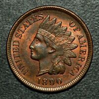 1890 INDIAN HEAD CENT  UNCIRCULATED UNC  1C  COIN  Q877 TRUSTED