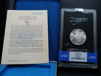 1885-CC MINT STATE 65 GSA HOARD MORGAN SILVER DOLLAR NGC CERTIFIED GEM WITH BOX/COA WHITE