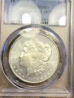 PCGS MINT STATE 63 1878 7TF REVERSE OF 1879 BRIGHT BEAUTIFUL  TOUGH THIS