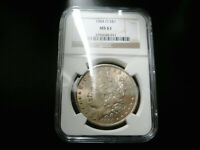 1884OMORGAN SILVER DOLLAR CHOICE UNC BU COIN  NGC MINT STATE 61 TONED