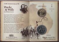 2010 AUSTRALIAN BURKE & WILLS 150TH ANNIVERSARY UNC 2 COIN SET   $1 AND 20 CENT