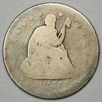 1855 O SEATED LIBERTY QUARTER   READABLE DATE & BOLD MINTMARK   PRICED RIGHT
