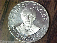 PRESIDENT ZACHARY TAYLOR 1849 1850 1 OUNCE .925 SILVER ROUND