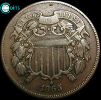 1865 TWO CENT PIECE 2CP        TYPE COIN        V056