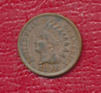 1898 INDIAN HEAD ONE CENT  CHOICE ABOUT UNCIRCULATED