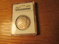 1830 BUST HALF DOLLAR CERTIFIED ANACS AU58 TONED OVERTON O 108 WHILTE HOLDER OGH