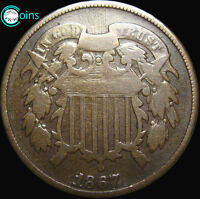 1867 TWO CENT PIECE 2CP  ----- TYPE COIN  ----- V059