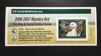 RW73A 2006   2007   US FEDERAL DUCK STAMP   POST OFFICE FRESH
