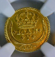 1730 PORTUGAL GOLD 400 REIS NGC XF DETAILS SURFACE HAIRLINES OLD AND ORIGINAL