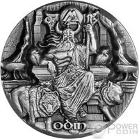 ODIN RULER AESIR LEGENDS OF ASGARD MAX RELIEF 3 OZ SILVER COIN 10$ TOKELAU 2016
