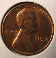 1958 D DENVER LINCOLN COPPER 1 ONE CENT WHEAT CENT PENNY LOWCOMBINESHIPPING FR3
