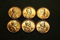1950 D 1951 D 1952D 1953 D 1954 D 1955D LINCOLN WHEAT CENT UNC 6 COIN SET BN24
