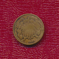 1866 TWO CENT PIECE  CIRCULATED COPPER TYPE COIN SHIPS FREE