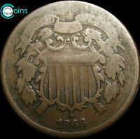 1866 TWO CENT PIECE 2CP TYPE COIN ----- I REVIEW ALL OFFERS  ----- V049