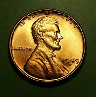1949 D  LINCOLN WHEAT PENNY UNCIRCULATED W10057