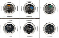 FULL SET OF LEGENDARY 2011 COLOURED CANADA PARKS QUARTERS BISON ORCA FALCON