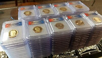 HUGE 108 ICG GRADED MINT STATE 67 2007-2015 PRESIDENTIAL DOLLAR LOT COLLECTION