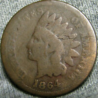 1864/1864 INDIAN CENT INITIAL L 1864 L DOUBLE DATE              V471