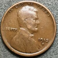 1913 S LINCOLN WHEAT CENT PENNY. G215 FREE S&H