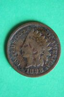 1898 INDIAN HEAD CENT PENNY NICE DETAILS $1.99 FLAT RATE SHIPPING COIN 445