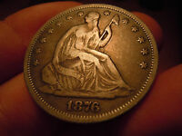 1876 S SEATED HALF DOLLAR BEAUTIFUL PATINA