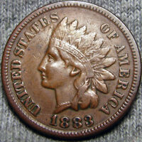 1883 INDIAN CENT TYPE PENNY COIN               P692
