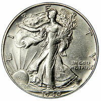 1940-S WALKING LIBERTY HALF -  AU ABOUT UNCIRCULATED PRICED RIGHT INV110