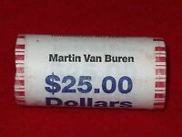 FULL 25 COIN SEALED ROLL US MINT 2008-D MARTIN VAN BUREN  PRESIDENTIAL DOLLAR