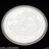 2010 YEAR OF TIGER 1KG KILO SILVER PROOF COIN   AUSTRALIA LUNAR SERIES II 2