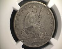 1840 NGC VF 30 SEATED LIBERTY HALF DOLLAR 50C   SMALL LETTERS