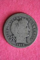 1913 P BARBER DIME 90 SILVER EXACT COIN PICTURED FLAT RATE SHIPPING COIN 029