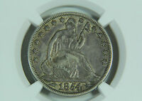 1854 O SEATED LIBERTY HALF DOLLAR NGC XF 45 PREMIUM QUALITY