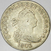 1803 DRAPED BUST HALF DOLLAR -  BOLD VG/FINE PRICED FOR QUICK SALE