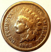1865 INDIAN HEAD CENT, FANCY