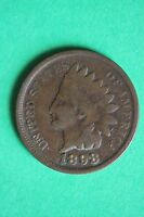 1898 INDIAN HEAD CENT PENNY NICE DETAILS FLAT RATE SHIPPING COIN 446