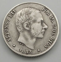 PHILLIPINES 20 CENTIMOS 1883 ALFONSO XII  HA 075