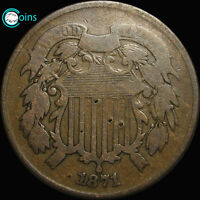 1871 TWO CENT PIECE TYPE COIN ALL OFFERS REVIEWED LOW MINTAGE  S353
