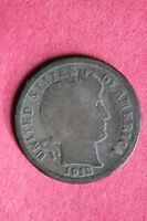 1913 P BARBER DIME 90 SILVER EXACT COIN PICTURED FLAT RATE SHIPPING COIN 134