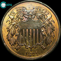 1871 TWO CENT PIECE 2CP TYPE COIN DAMAGES  ----  LOW MINTAGE  ----  C980