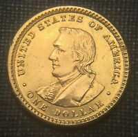 1905 LEWIS & CLARK $1 GOLD COMMEMORATIVE  UNC