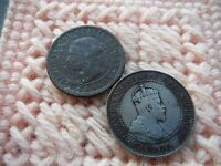 CANADA 1888 1906 SILVERED LARGE CENT LOT OF 2