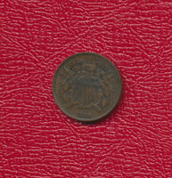 1866 TWO CENT 2 CENT PIECE-